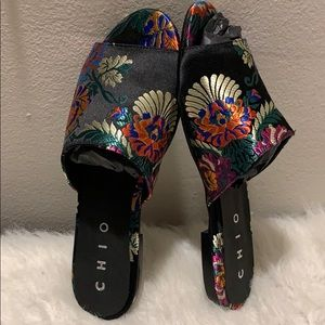 Anthropologie Shoes - 🆕rare Chio Floral Brocade Slides